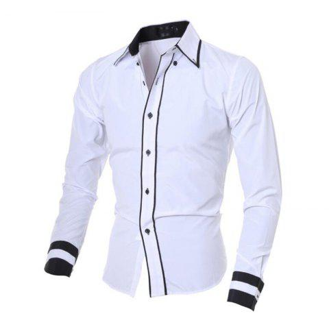 Buy Men's Casual Simple Stripe Long Sleeves Shirts