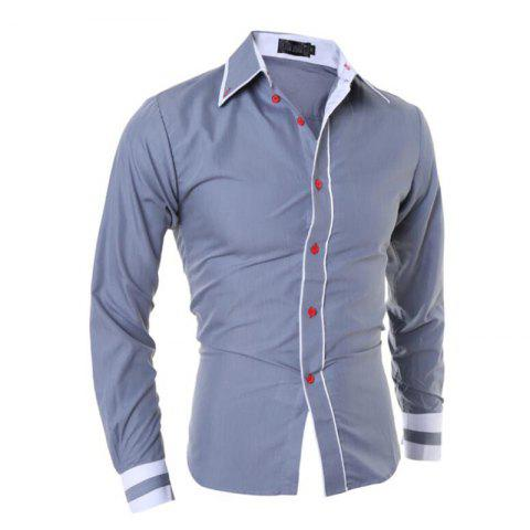 New Men's Casual Simple Stripe Long Sleeves Shirts