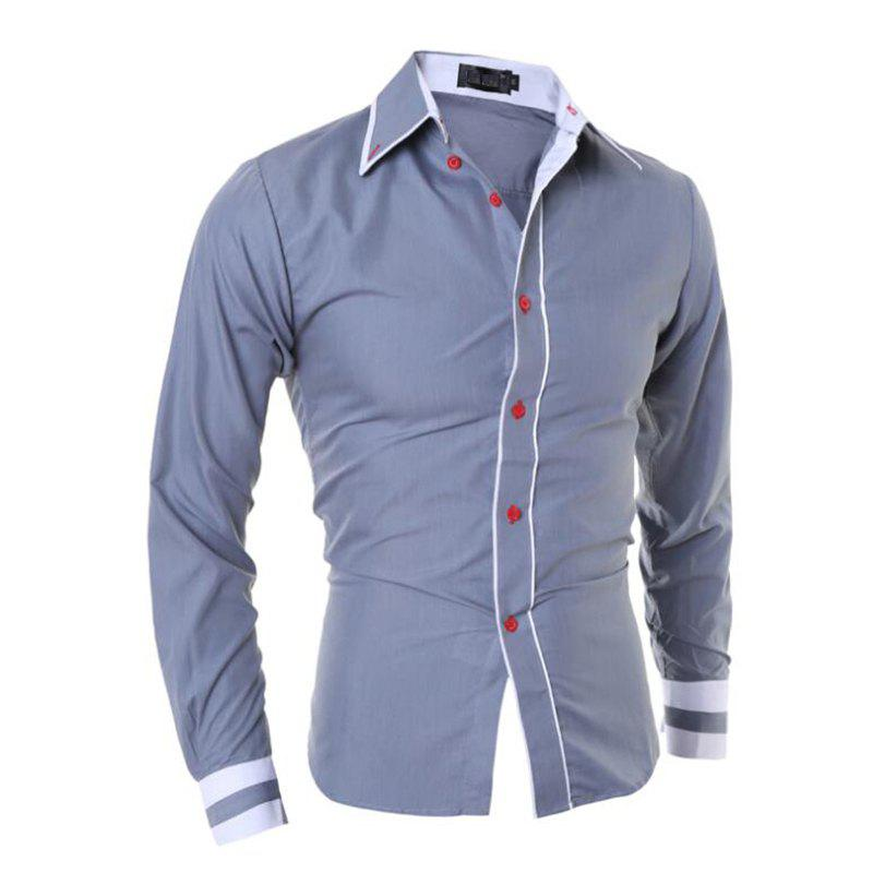 Affordable Men's Casual Simple Stripe Long Sleeves Shirts