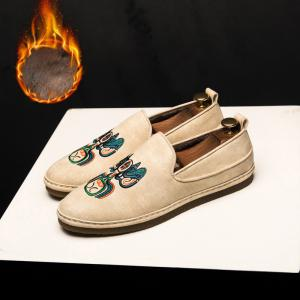Fashion Men Casual Shoes Cloth Slip on Loafers Comfortable Footwear -