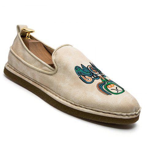 Outfits Fashion Men Casual Shoes Cloth Slip on Loafers Comfortable Footwear