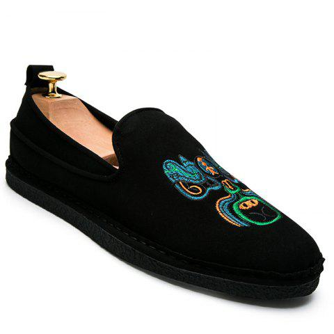 Unique Fashion Men Casual Shoes Cloth Slip on Loafers Comfortable Footwear