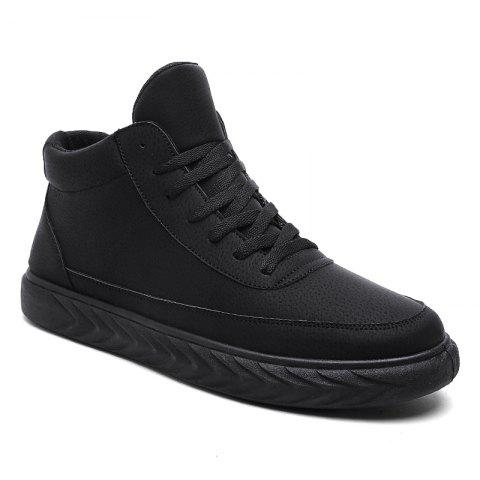 Men Casual Shoes Running Male Flats Comfortable Fashion Sneakers - BLACK - 41