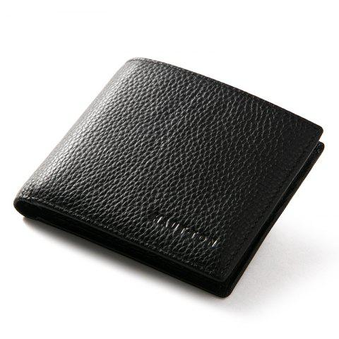 Online HAUT TON Full Grain Leather Men Minimalist Basic Multi-Card Bifold Wallet