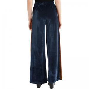 Fashion Casual Contrast Color Wide Leg Pants -