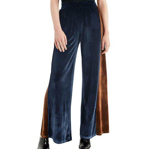 Latest Fashion Casual Contrast Color Wide Leg Pants