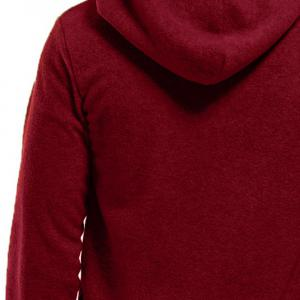Men's Hoodie Unique Design Solid Color Fashion Zipper Soft Hoodie -
