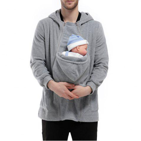 Affordable Men's Hoodie Unique Design Solid Color Fashion Zipper Soft Hoodie