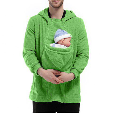 Outfit Men's Hoodie Unique Design Solid Color Fashion Zipper Soft Hoodie