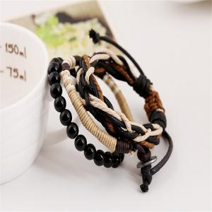 Men's Bracelet Set beads All Match Chic Accessory -