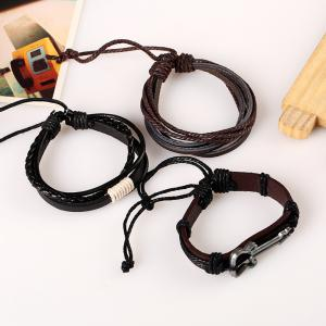 Men's Bracelet Set All Match Durable Accessory -