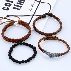 4Pcs Men's Bracelet Fashionable All Match Accessory -