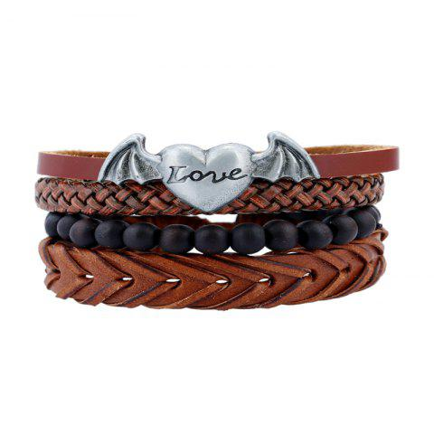 New 4Pcs Men's Bracelet Fashionable All Match Accessory