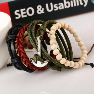 Men'S Bracelet Set Beads All Match Casual Accessory -