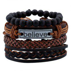 Men's Bracelet Set Vintage Woven Accessory -