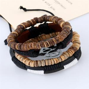 4Pcs Men's Bracelet Vintage Durable Accessory -