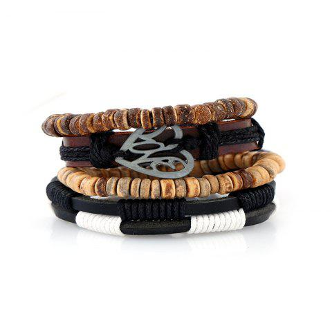 Cheap 4Pcs Men's Bracelet Vintage Durable Accessory