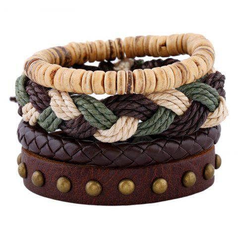 Shops Men's Bracelet Set Vintage All Match Casual Woven Accessory