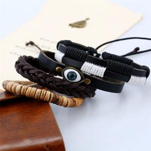 Men's Bracelet Set Vintage Handsome Accessory -