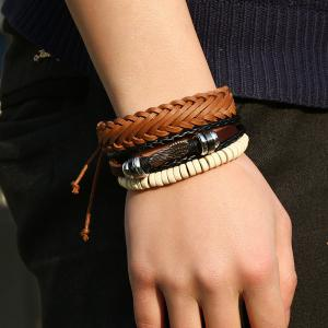 Men's Bracelet Set Vintage All Match Casual Woven Accessory -