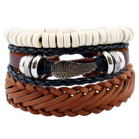 Unique Men's Bracelet Set Vintage All Match Casual Woven Accessory