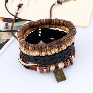 Men's Bracelet Set Fashion Vintage Knitted Casual Chic Accessories -