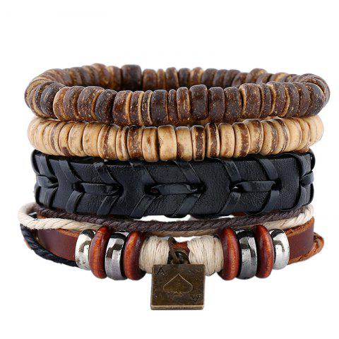 Online Men's Bracelet Set Fashion Vintage Knitted Casual Chic Accessories