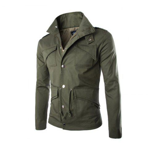 Chic Men's Safari Jacket MIlitary Jackets Coat Men