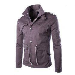 Men's Safari Jacket MIlitary Jackets Coat Men -