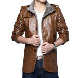 Men's PU Leather Jacket -