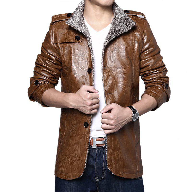 Chic Men's PU Leather Jacket