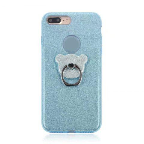 Affordable Translucent Glitter TPU Mobile Phone Protection Case with Stent for iPhone 8 Plus / 7 Plus