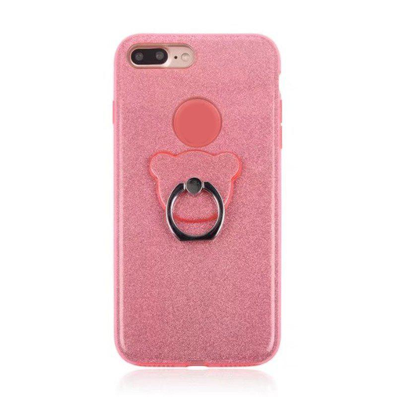 Store Translucent Glitter TPU Mobile Phone Protection Case with Stent for iPhone 8 Plus / 7 Plus