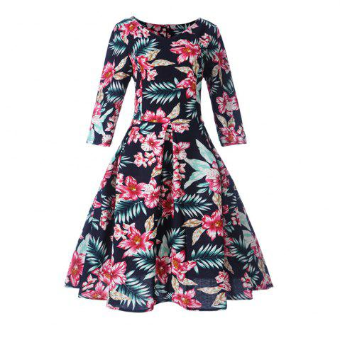 Fancy Women'S Dress Printed Hepburn Vintage Dress