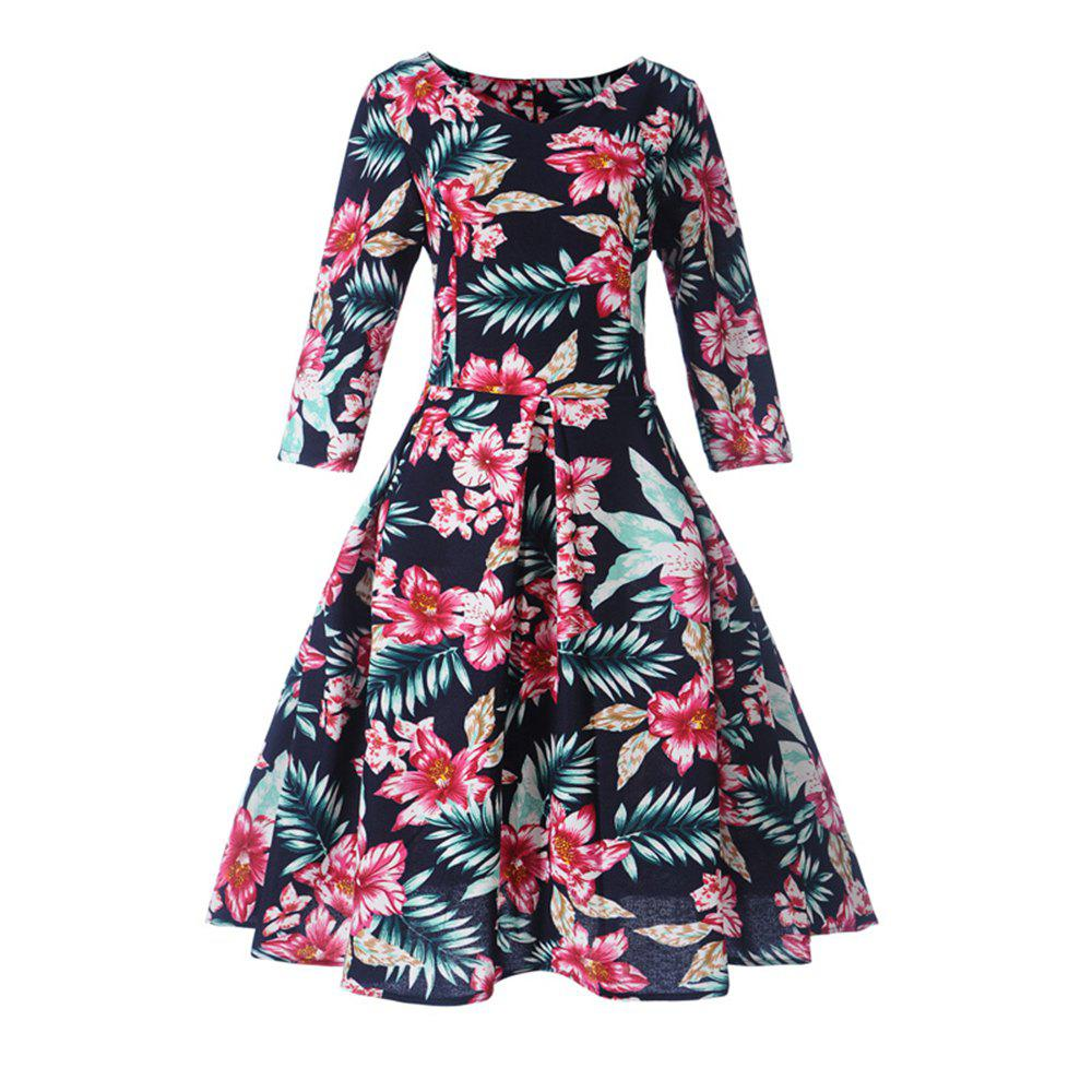 Shop Women'S Dress Printed Hepburn Vintage Dress