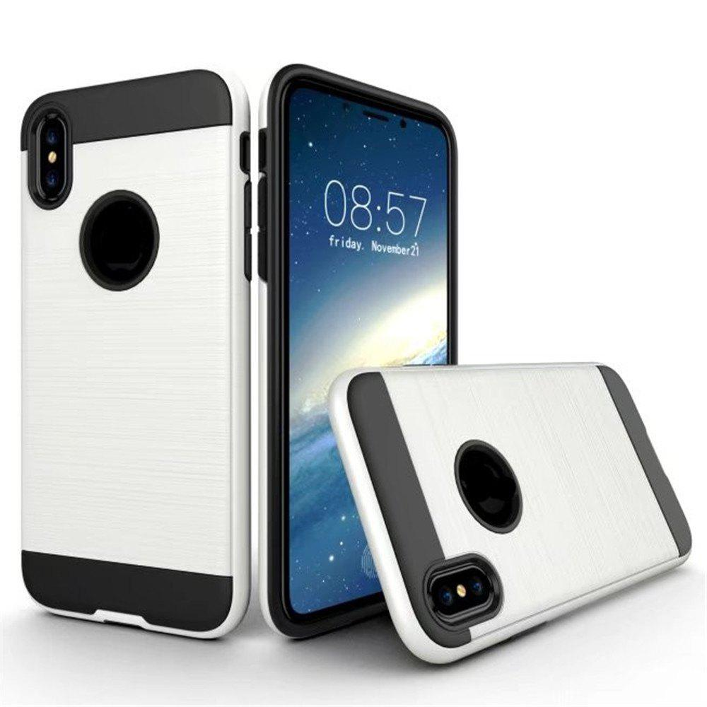 Affordable Dual Layer Hybrid Shockproof Cover Slim Armor Provides Complete All-Around Protection for iPhone X Case