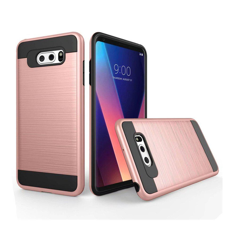 Shop Carbon Dimension Wire Drawing Business Fashion Shock Absorption for LG V30 Case