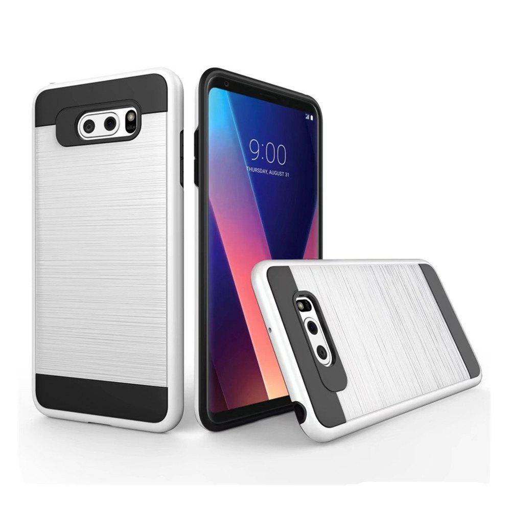 Discount Carbon Dimension Wire Drawing Business Fashion Shock Absorption for LG V30 Case
