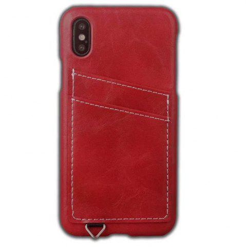 Outfit Wallet Case Holder Case Protective Leather Case with Hidden Credit Card Slot for Apple IPhone X