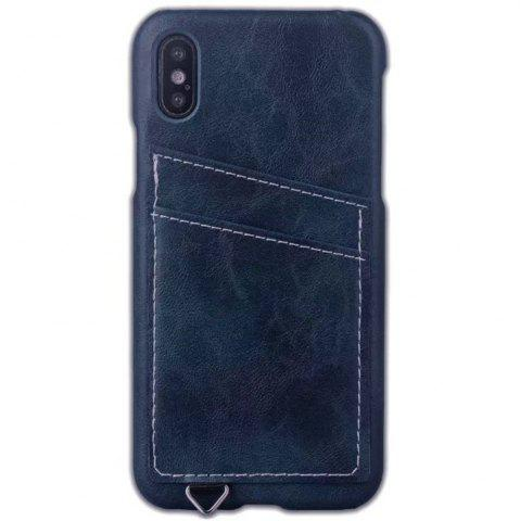 Discount Wallet Case Holder Case Protective Leather Case with Hidden Credit Card Slot for Apple IPhone X