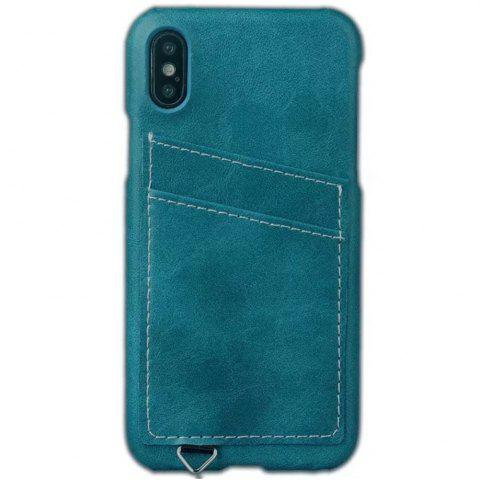 Unique Wallet Case Holder Case Protective Leather Case with Hidden Credit Card Slot for Apple IPhone X