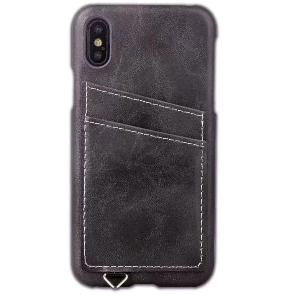 Best Wallet Case Holder Case Protective Leather Case with Hidden Credit Card Slot for Apple IPhone X