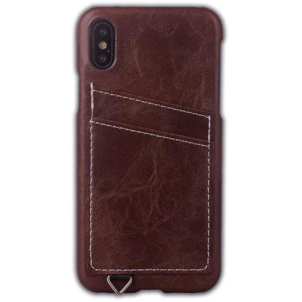 Cheap Wallet Case Holder Case Protective Leather Case with Hidden Credit Card Slot for Apple IPhone X