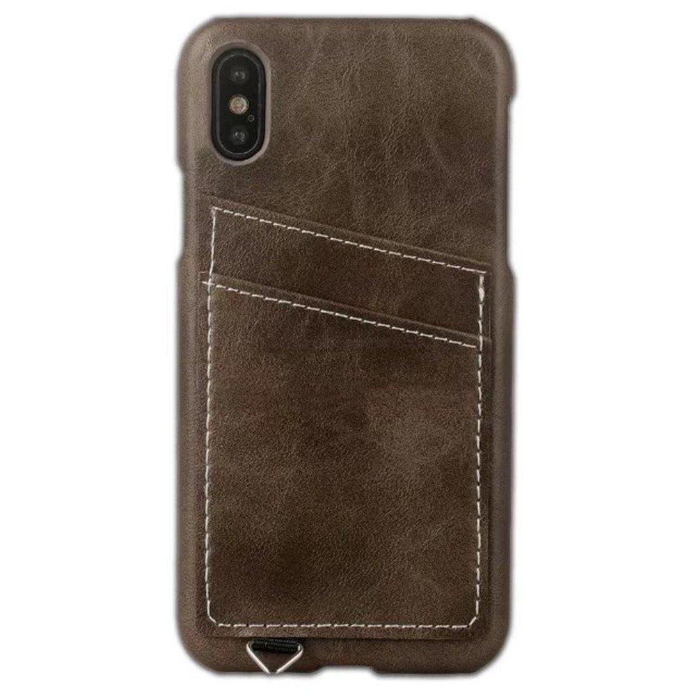 Chic Wallet Case Holder Case Protective Leather Case with Hidden Credit Card Slot for Apple IPhone X