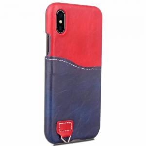 Credit Card Holder Slim Leather Shockproof Protective Hybrid Case for Apple IPhone X 5.8 Inch 2017 -