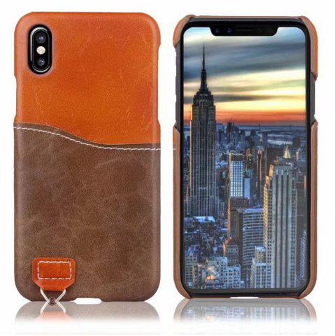 Online Credit Card Holder Slim Leather Shockproof Protective Hybrid Case for Apple IPhone X 5.8 Inch 2017