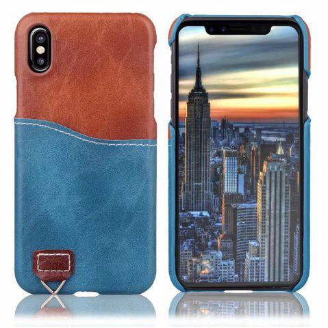 Outfits Credit Card Holder Slim Leather Shockproof Protective Hybrid Case for Apple IPhone X 5.8 Inch 2017