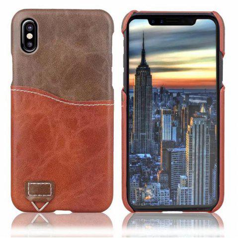 Fashion Credit Card Holder Slim Leather Shockproof Protective Hybrid Case for Apple IPhone X 5.8 Inch 2017