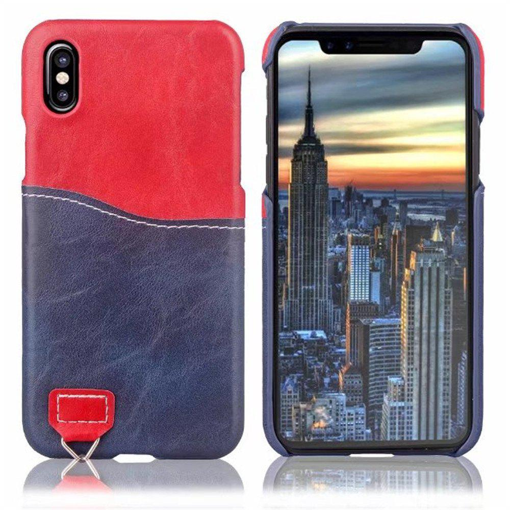 Outfit Credit Card Holder Slim Leather Shockproof Protective Hybrid Case for Apple IPhone X 5.8 Inch 2017