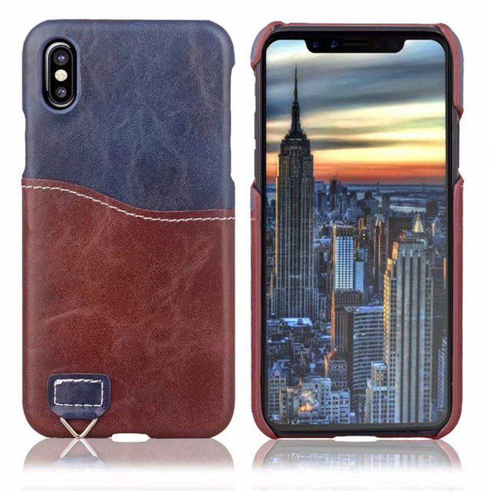 Unique Credit Card Holder Slim Leather Shockproof Protective Hybrid Case for Apple IPhone X 5.8 Inch 2017